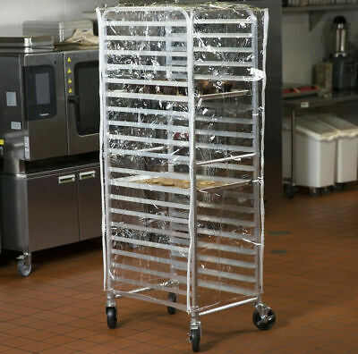 Heavy Duty 63 Clear 14 Mil Plastic Restaurant Baking Bun Pan Dough Rack Cover