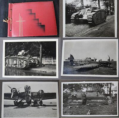 Altes Fotoalbum Einsatz Frankreich / Schöne Technik Bilder uvm. mit 258 Fotos