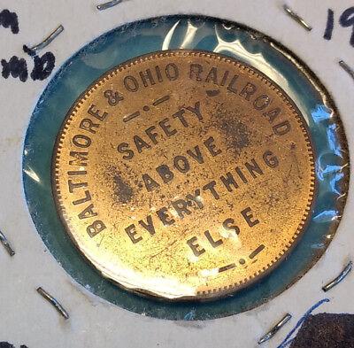 1927 Baltimore & Ohio Railroad Tom Thumb Good Luck Souvenir Token Coin