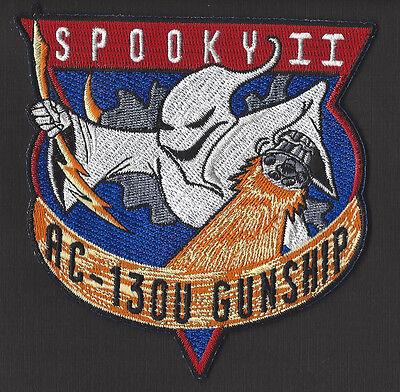 "USAF SPOOKY II AC-130U GUNSHIP 4 1/4"" CLOTH BACK PATCH"