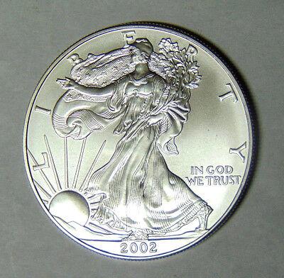 2002 American Silver Eagle .999 Fine Silver Dollar 1 oz BU Uncirculated (21518)