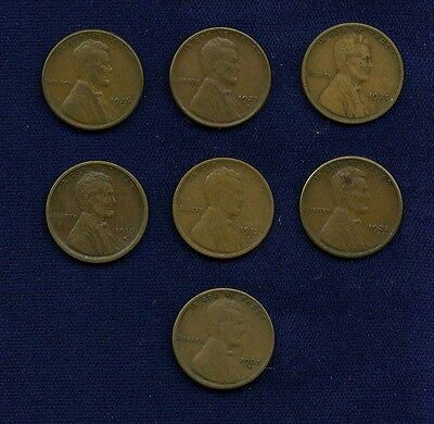 U.S. LINCOLN SMALL CENTS COINS: 1913-S, 1916-S, 1925-D, 1925-S 3, & 1926-S