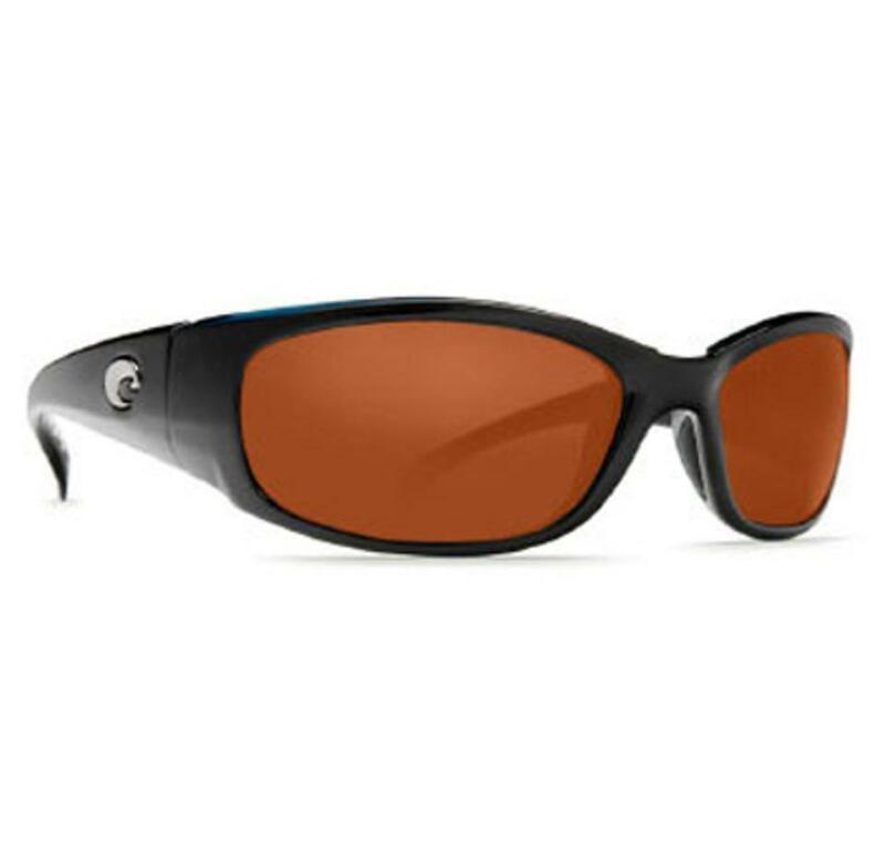New Costa del Mar Hammerhead Polarized Sunglasses Black/Copper 580P XL Fit Wrap
