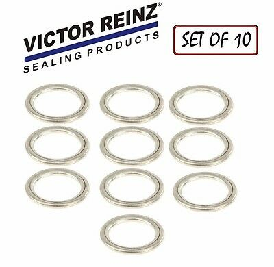 For Audi S4 A4 Q5 VW Touareg CC REINZ Set of 10 Oil Drain Plug Gaskets N0138157