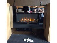 STAFFORD LARGE WIDESCREEN WALL MOUNTED ELECTRIC LIVING FLAME MIRROR GLASS FIRE FIREPLACE