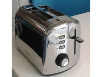 stainless steel breville 2 slice electric toaster graded with 12 month warranty