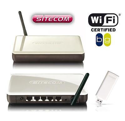 Sitecom WL-600/579 WLAN Kit (Router + USB - Adapter) 54 Mbit/s 802.11B/G