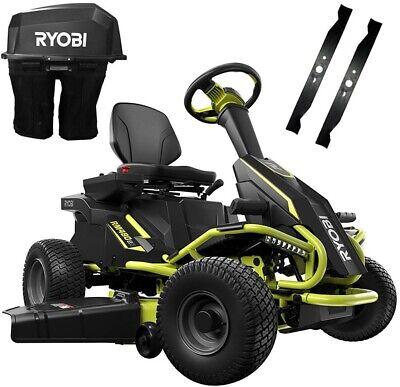Ryobi 38 in. 75 Ah Battery Electric Rear Engine Riding Lawn