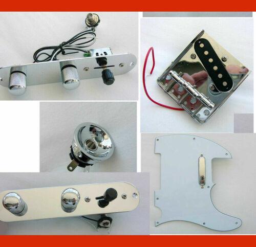 TELE ASSEMBLY Parts -Electro-Socket, Pickguard, Pickups, Bridge,Plate TELECASTER