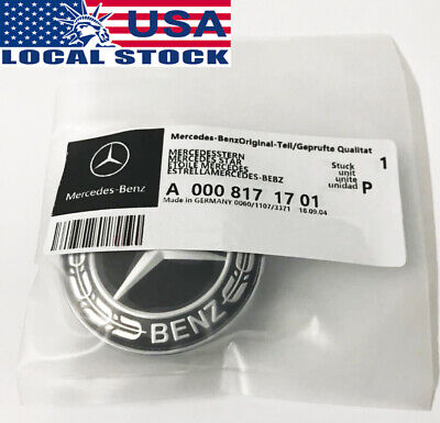 For Mercedes-Benz C-class W205 Hood Badge Emblem A0008171701 BLACK