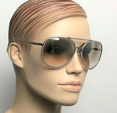 MICHAEL KORS MIAMI Women Sunglasses SILVER DIAMANTE PINK GRADIENT 1039B 11538Z