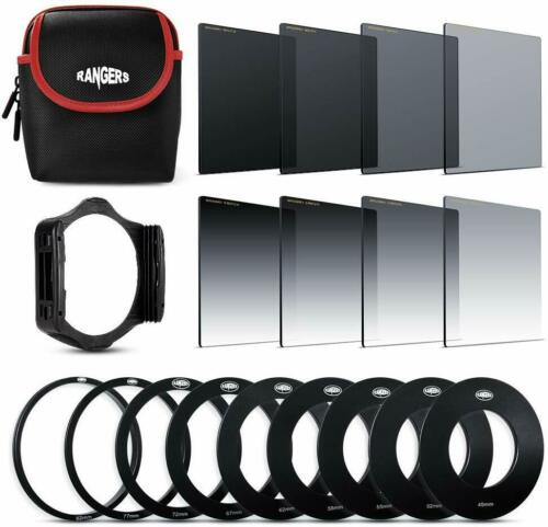 Rangers 8pcs ND Filter Kit Full and Graduated ND2 ND4 ND8 ND16 Filters