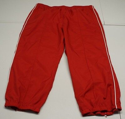 Tommy Hilfiger Womens L Red Polyester Cropped Capri Athletic Pants NWOTs