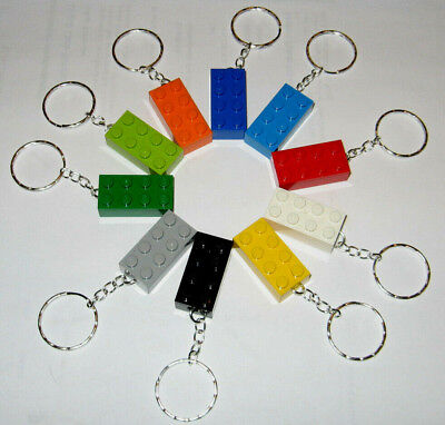 LEGO Keychain Birthday Party Favors Pack of 10 Teacher Prizes Sunday School