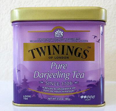 Twinings Darjeeling Tea - Twinings of London Pure Darjeeling Loose Tea Tin - 3.53oz (100g) Quality  Chai