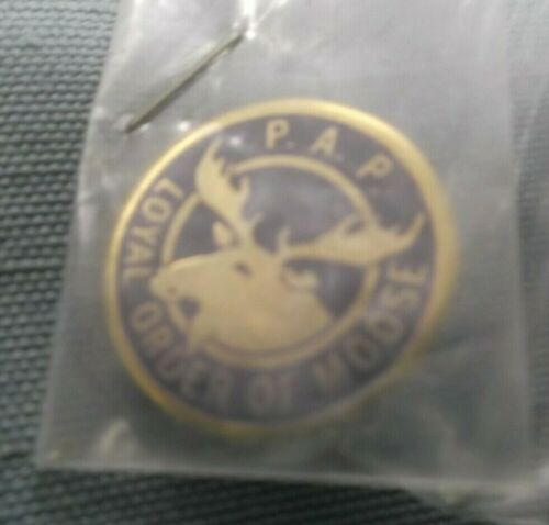 "enameled P.A.P. moose  lapel pin 3/4"" Loyal Order of Moose"