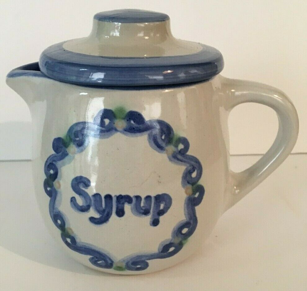 M A Hadley Syrup Pitcher, Lid - $19.00