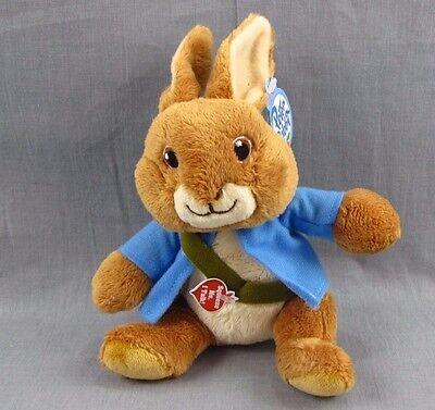 """Gund Peter Rabbit Sound Stuffed Animal Plush 6"""" Nickelodeon NEW NWT Bunny"""