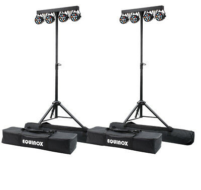 2 x Equinox MicroPar Bar System LED Par Can Lighting DJ Disco DMX Light Effect