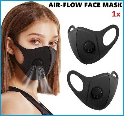 Air Flow Face Mask Surgical Disposable Reusable Washable Black Face Masks UK