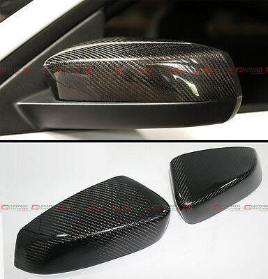 - FOR 2010-2014 FORD MUSTANG GT DIRECT ADD-ON CARBON FIBER SIDE MIRROR COVER CAPS