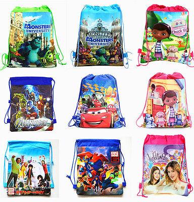 Monster High Big Hero Violetta Cartoon Bag Drawstring Backpack Kids School Bag A - Monster High Cartoon