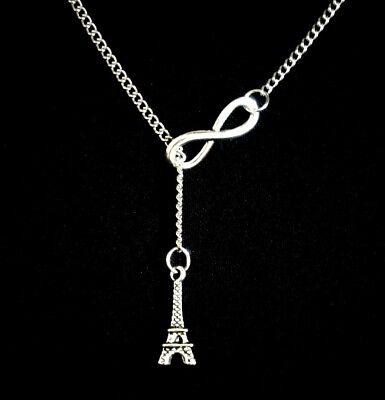 Infinity Eiffel Tower (Infinity Eiffel Tower Paris France World Love Travel Lariat)
