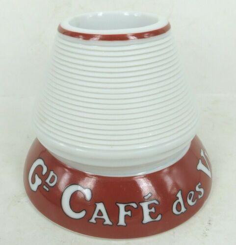 French CAFE des VITICULTEURS DEPUIS 1897 restaurant match holder striker ceramic