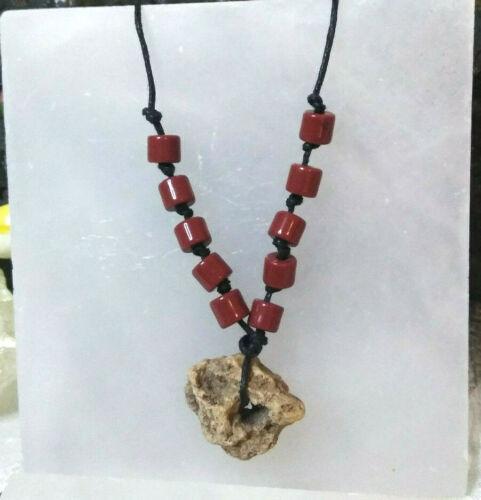 Hag Stone Necklace Holey Stone Carnelian Stone Amulet Mystic  For Women Or Men
