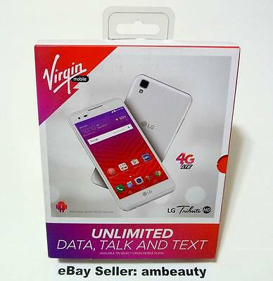 "NEW Virgin Mobile LG Tribute HD M3 LS676 4G LTE 5"" Andriod 6.0 16GB 8MP (White)"