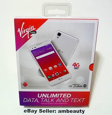 New Virgin Mobile Lg Tribute Hd M3 Ls676 4G Lte 5  Andriod 6 0 16Gb 8Mp  White