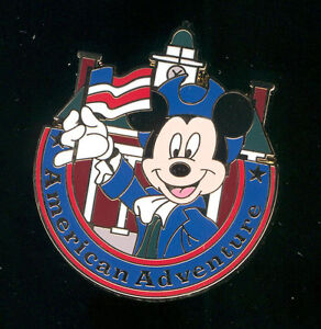 WDW Mini-Pin Epcot World Showcase Mickey American Pavilion Disney Pin 74074