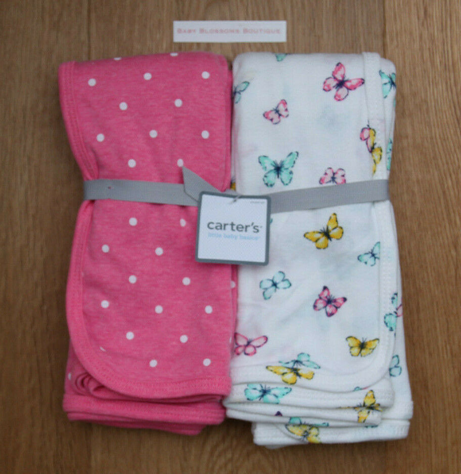 Carter's Baby Girls' 2-Pack Swaddle Blankets,Pink