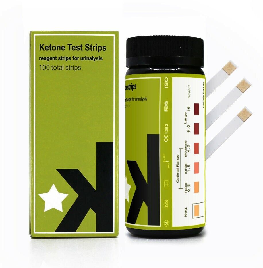 Ketone Test Strips 100ct. Professional Grade - For Keto, Low
