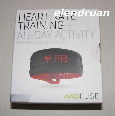 NEW Mio Fuse Heart Rate Training + All Day Activity Tracker Large Crimson