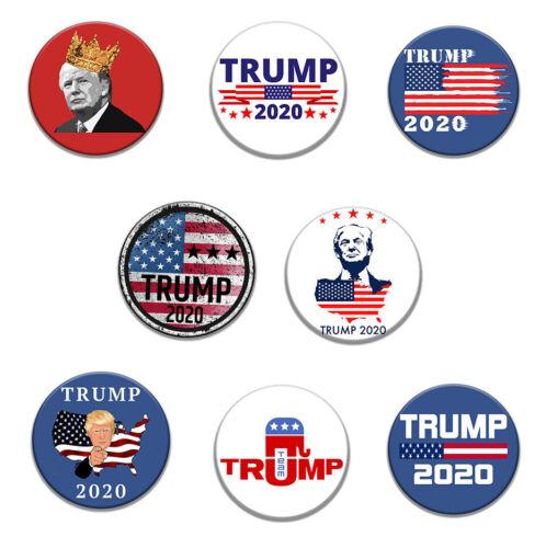 8pcs Lot Donald J TRUMP Pence 2020 Pin Pinback Button