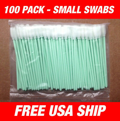 Usa - 100 Pcs Small Foam Cleaning Swabs - Roland Soljet Cammjet -usa Ship