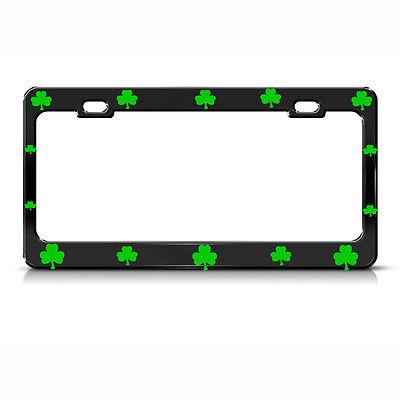 Irish Metal License Plate Frame (SHAMROCK LUCKY IRISH BLACK Heavy Duty Metal IRISH License Plate Frame )