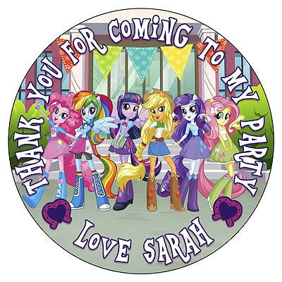 Equestria Girls Party Supplies (Personalised Equestria Girls Birthday Party Stickers Thank You Cones Labels)