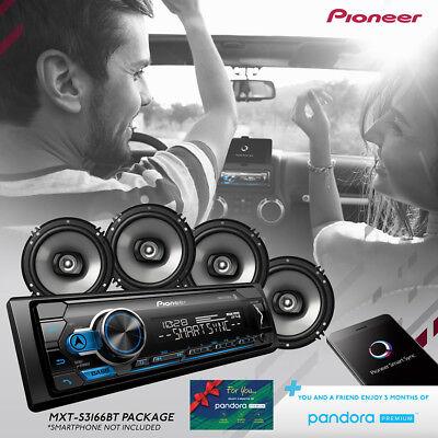 """Pioneer Car Stereo Bundle MVH-S310BT Digital Media Receiver And 4 6.5"""" Speakers"""