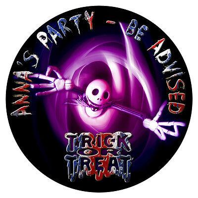 Personalisiert Halloween-Aufkleber Geburtstagsparty Sweet Zapfen Tasche