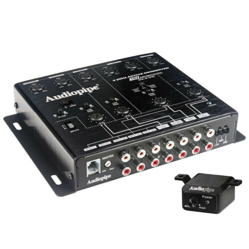 Audiopipe XV4V15, 4-Way Active Crossover. 15 V Audio Signal Line Driver
