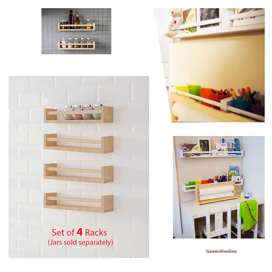 Ikea Kitchen Spice Rack Ikea Spice Rack Wall Shelves 4 Pk Bekvam Kitchen Storage Wood Book