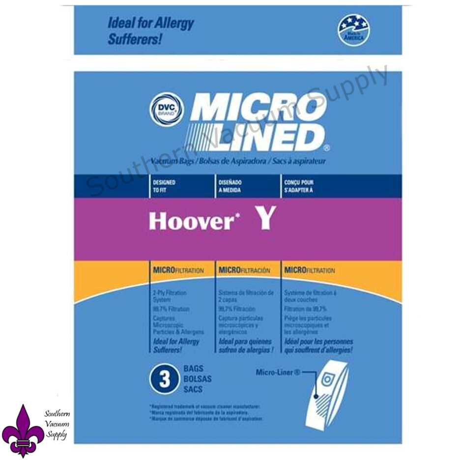Hoover Vacuum Bags Style Y Microlined by DVC