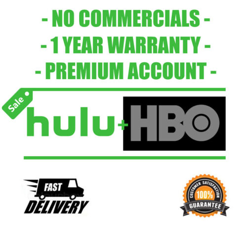HULU PREMIUM + HBO   NO COMMERCIAL ACCOUNT 1 YEAR   INSTANT DELIVERY 30 seconds