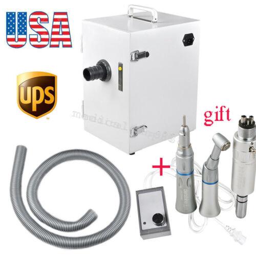 digital Single-Row dental Dust Vacuum Cleaner Collector+ low speed handpiece kit