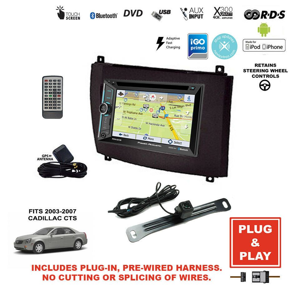 Plug-In GPS Navigation Bluetooth Car Radio+Backup Camera