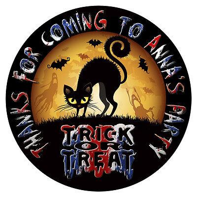 Personalisiert Halloween-Aufkleber Geburtstagsparty Sweet Kegel Tasche Etiketten