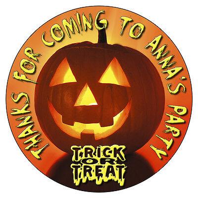 Personalizado Halloween Pegatinas Fiesta de Cumpleaños Dulce Conos - Bolsas De Dulces Halloween