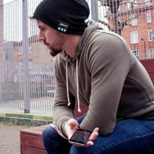 Soft Beanie Hat Warm Headset Headphone Speaker Mic Wireless Bluetooth Smart Cap - $0.99